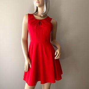 Express Red Sleeveless Fit & Flare Dress Size 8
